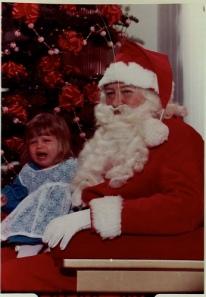crying santa